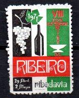 Viñeta  VIII Feria De Vinos De Ribeiro. - España