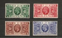 GREAT BRITAIN 1935 SILVER JUBILEE SET MOUNTED MINT  Cat £7.50 - 1902-1951 (Könige)