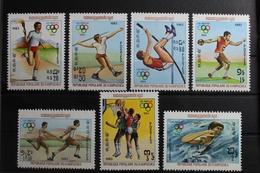 Kambodscha 454-460 ** Postfrisch Olympische Spiele #RN046 - Cambodia