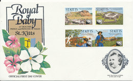 St. Kitts Cover FDC ??? Complete Set ??  No Postmark  But Nice Flower Cachet - St.Kitts And Nevis ( 1983-...)