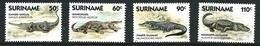 SURINAME MNH - 1988 Reptiles - Crocodiles - Vari Cent - Michel SR 1248 1251 - Suriname