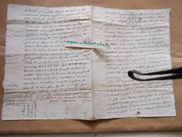 CACHET GENERALITE LA ROCHELLE XVIIIe 1738 Testament Anne Dulau Celette Mansle 1711 Charente Famille Grimouard Boucheron - Cachets Généralité