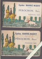 Cycles Barré Niort - Pérochon Succr -  Lot De 2 Carnets - Couvertures Illustrées Style Benjamin Rabier - Publicités