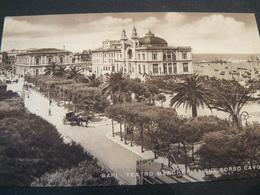 VERY BEAUTIFUL NEW ANCIENT POSTALCARD OF BARI....TEATRO MARGHERITA SUL CORSO CAVOUR..NON VIAGGIATA - Bari