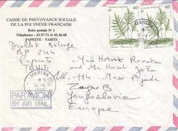 French Polynesia Airmail Cover Sent To Yugoslavia , Mahina Tahiti 1988 - Polynésie Française