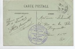 CARTE FM Avec CACHET HOPITAL AUXILIAIRE N° 41 BIS à VEULES LES ROSES (SEINE MARITIME) - Marcophilie (Lettres)