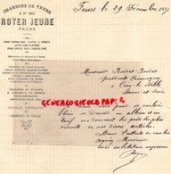 42- FEURS - RARE LETTRE MANUSCRITE SIGNEE ROYER JEUNE- CHARBONS DE TERRE ET DE BOIS- CHAUX CIMENT-1887 - France