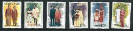 SURINAME MNH - 1988 Wedding Costumes - Vari Cent - Michel SR 1252 1257 - Suriname