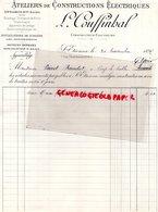 42- SAINT ETIENNE-LA CHALEASSIERE-RARE FACTURE L. COUFFINHAL-CONSTRUCTEUR ELECTRICIEN-ATELIERS CONSTRUCTIONS ELECTRIQUES - France