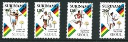 SURINAME MNH - 1988 Olympic Games - Seoul, South Korea - Vari Cent - Michel SR 1264 1267 - Suriname