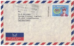 B116   MALAYSIA  -  Air Mail Kuala Terengganu - Switzerland 1985 - King Iskander Al-Haj - Malesia (1964-...)