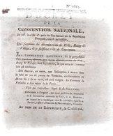 Qui Supprime Les Dénominations De Ville,bourg & Village,& Y Substitue Celle De Commune .2 Pp.1793-94 - Decreti & Leggi