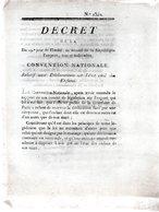 Relatif Aux Déclarations Sur L'état Civil Des Enfans..2 Pp.1793-94 - Decreti & Leggi