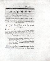 Qui Excepte Les Médecins De La Loi Sur Les étrangers..2 Pp.1793-94 - Decreti & Leggi