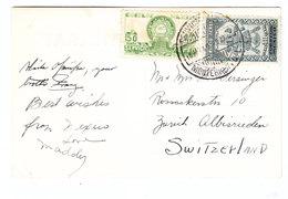Mexico POPOCATEPETL POSTCARD TO Switzerland 1946 - Mexico