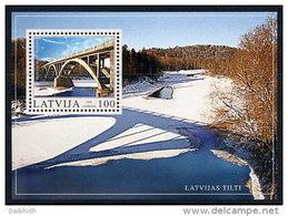 LATVIA 2003 Sigulda Bridge Block MNH / **.  Michel Block 17 - Latvia