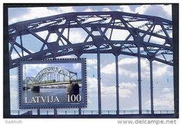 LATVIA 2004 Daugava Railway Bridge Block MNH / **.  Michel Block - Latvia
