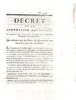 Qui Ordonne Que La Peine De Déportation Sera Désormais Pour La Vie Entière..3 Pp.1793-94 - Decreti & Leggi