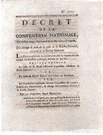 Qui Change Le Nom De La Ville De ROCHE-BERNARD,en Celui De La ROCHE-SAUVEUR..4 Pp.10 JUIN 1793 - Décrets & Lois