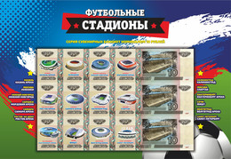 Russia, 2018, Football World Cup FIFA 2018, Stadiums, Set Of 12 Notes - Russia