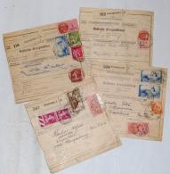 France, 1936-1938  étiquettes Postale Différente De Strasbourg 2 Et De Wissembourg, Elsasz Sur 4 Bulletin D'Expéditions - Covers & Documents