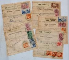 France, 1937-1938  étiquettes Postale Différente De Strasbourg 1b, 2, 3 Et De Mulhouse, Elsasz 5 Bulletin D'Expéditions - Covers & Documents