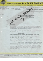Luxembourg - LUXEMBOURG - Facture CLEMENT - Scierie - Bois Et Matériaux - 1937 - REF 89F - Luxembourg