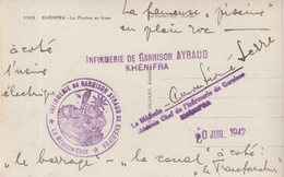 MAROC : GUERRE . CP . EN FM . INFIRMERIE DE GARNISON AYRAUD KHENIFRA . 1942 . - Morocco (1891-1956)