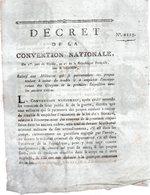 Relatif Aux Militaires Qui Se Permettroient Des Propos Tendant à Exiter Du Trouble..1793-94 - Decreti & Leggi