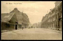 CP   Dison   ---    Place Du Sablon  --   Animé Avec Fiacre - Dison