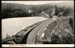 CP   La Gi!leppe   ---  Barrage  Et Route --  1908 - Gileppe (Stuwdam)