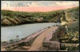 CP   La Gileppe   ---   Tablier Lion Et Lac --  Colorisé  --  1928 - Gileppe (Stuwdam)