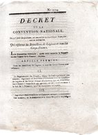 Qui Réforme Les Bataillons De Légions Et  Tous Les Corps Francs.4 Pages..1793-94 - Decreti & Leggi