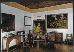 TOLEDO - MUSEO DEL GRECO -VIAGGIATA 1983 FRANCOBOLLO ASPORTATO - Musei