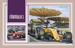 GUINEA BISSAU 2018 MNH** Formula 1 Formel 1 Formule 1 S/S - OFFICIAL ISSUE - DH1814 - Cars