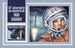GUINEA BISSAU 2018 MNH** Yuri Gagarin Space Raumfahrt Espace S/S - OFFICIAL ISSUE - DH1814 - Space