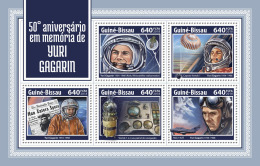 GUINEA BISSAU 2018 MNH** Yuri Gagarin Space Raumfahrt Espace M/S - IMPERFORATED - DH1814 - Space