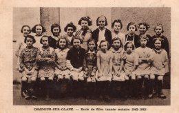 ORADOUR SUR GLANE ECOLE DES FILLES ANNEE SCOLAIRE 1942 1943 TBE - Oradour Sur Glane