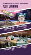 NIGER 2018 MNH** Yuri Gagarin Space Raumfahrt Espace M/S - OFFICIAL ISSUE - DH1814 - Space