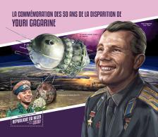 NIGER 2018 MNH** Yuri Gagarin Space Raumfahrt Espace S/S - OFFICIAL ISSUE - DH1814 - Space
