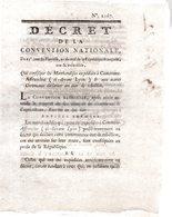 QUI CONFISQUE LES MARCHANDISES EXPEDIEES A  COMMUNE-AFFRANCHIE.(ci-devant  LYON.3 Pages..1793-94.AMIENS - Decreti & Leggi