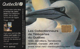 QuébecTel,  Mint Chip 99 11 Q10122, 1125 Copies Fous De Bassan, Birds - Canada