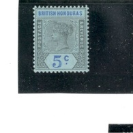 BritishHonduras1876:  Michel44mh* (Scott52) Cat.Value$31 - British Honduras (...-1970)