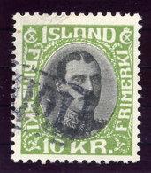 ICELAND 1931 Christian X 10 Kr. Definitive With TOLLUR Cancellation.  Michel 167 - 1918-1944 Autonomous Administration
