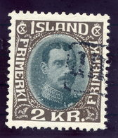 ICELAND 1931 Christian X 2 Kr. Definitive With TOLLUR Cancellation.  Michel 166 - 1918-1944 Autonomous Administration