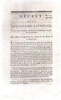 QUI Ordonne La Réparation Des Routes & Des Ponts De La République.4 Pages..1793-94.Paris - Decreti & Leggi