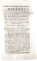 Relatif à L'établissement De Bibliothèques Publiques Dans Les Disctricts.4 Pages..1793-94.Paris - Decreti & Leggi