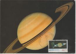 Etats Unis Carte Maximum  1989 Saturne Voyageur 2 - Maximumkarten (MC)