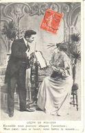 Fantaisie - CPA - Couple - Premier Rendez-vous - Couples