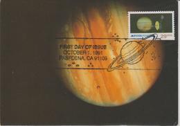 Etats Unis Carte Maximum  1988 Jupiter Et Pioneer 11 - Maximumkarten (MC)